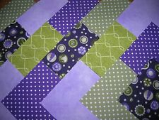 """40 x 4"""" CHARM PACK PURPLE &  GREEN 100% COTTON PATCHWORK/QUILTING/CRAFTS  PAG"""