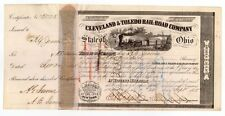 1855 Cleveland & Toledo Railroad Company - signed by A.G. Jerome