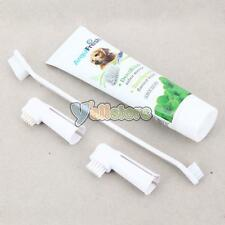 New PP Plastic Grooming Toothbrush and Toothpaste for Dog White