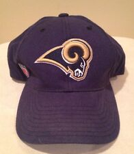 NFL St. Louis Rams Hat Curve Brim Adjustable Reebok Team Apparel Blue LA
