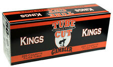 5(Five) Gambler Tube Cut Full Flavor King Size Cigarette Tubes 200ct box RYO/MYO