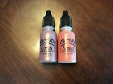 Lot of 2 Airbrush Make Up Blushes Petal And Sand .5 fl oz. each Bisou