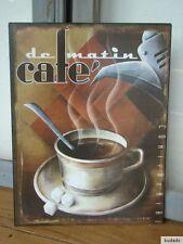 Nr.G6949 Cafe de matin - SCHILD - Blechschild - Nostalgie - Kaffee