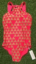 New Seafolly Costa Maya High Neck Maillot Swimsuit - Red Hot - Size AU12 / US8