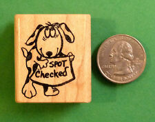 Spot Checked - wood mounted teacher's rubber stamp