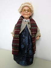 "CATHAY Collection AGATHA Grandma Nana Nonna Granny Porcelain Doll 18"" 106/5000"
