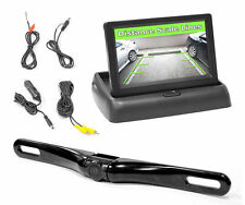 "NEW Pyle PLCM4500 4.3"" Pop-Up Stealth Monitor W/ License Plate Backup Camera Kit"