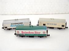 Fleischmann N Bierwagen / Kühlwagen (3 Stück) der NS, FS, DB