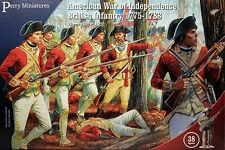 American War of Independence British Infantry 1776 Perry 28mm 38 figures 701