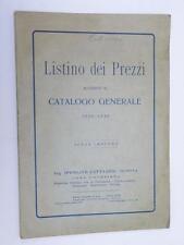 Ippolito Cattaneo Genova fotografia listino prezzi 1929 catalogo