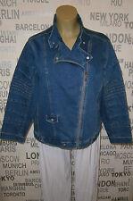 Jean Marc Philippe: Jeans-Jacke im Bikerstil, detailreich, Taschen T8 (52/54)%%%