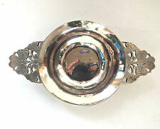 R E Stone Wine Quaich Asprey Celtic Clover Arts & Crafts Sterling Silver 1938