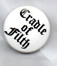 CRADLE OF FILTH BUTTON BADGE ENGLISH EXTREME METAL BAND  25mm PIN THORNOGRAPHY