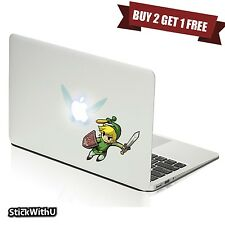 Macbook Air Pro Skin Sticker Decal Legend Of Zelda Link Navi Cute Cartoon bn426