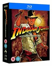Indiana Jones Complete Adventures Movies 1-4 + Features Blu-ray Region Free