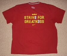 NIKE LeBron James Strive for Greatness Men's XXL 2X-Large Reg Fit T-Shirt Tee SS