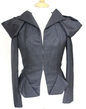 Amazing Bottega Vaneta Structured Grey Origami Jacket 42 uk 10