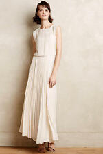 Anthropologie Icepleat large Maxi Dress By Bordeaux Accordion Pleat Wedding new