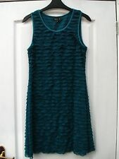 APRICOT TEAL GREEN SHIMMER SHEER RUFFLE RARA FRILL STRETCHY BODYCON PARTY DRESS