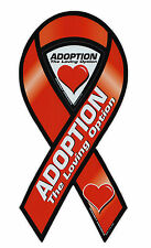 Magnetic Bumper Sticker - Adoption - The Loving Option - Ribbon Support Magnet