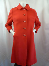Bullocks Wilshire Vintage Cashmere Cherry Red Mod Look Princess Coat M Medium