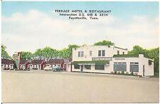 Terrace Motel and Restaurant in Fayetteville TN Roadside Postcard