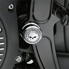 Harley willie g skull softail fxst flst swingarm pivot bolt cover set 00-2007