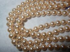 "HOBE Vintage 6mm Cream Majorca Pearl endless strand 61"" Necklace handknoted mint"