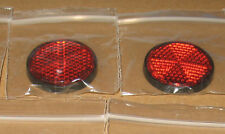 2  stick on round red reflector motorbike bike mot trailers motor homes  A10