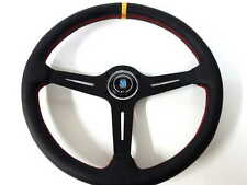 """High Quality Nardi Style Leather 14.8"""" Strong Spoke Racing Car Steering Wheel"""