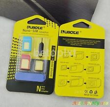 Nano SIM Card to Micro Standard Adapter Converter Set For iPhone  5 6 7 Samsung