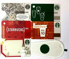 Lot of 6 STARBUCKS CARD 2011 - 2014 Mini Key Chain Card Gift Tag NEW