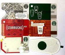 Lot of 6 STARBUCKS CARD 2011 - 2014 Mini Key Chain Card Gift Tag NEW