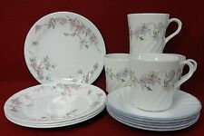 CORNING Corelle dinnerware WISTERIA 12-piece SET 4 cups, saucers salad plates