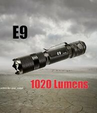 PowerTac E9 1020 Lumen LED Flashlight CREE XML-U2