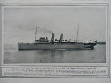 1914 GERMAN MINE LAYER KONIGIN LUISE; LIGHT CRUISER HMS AMPHION SUNK WWI WW1