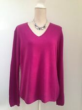 DEANE & WHITE Ladies 100% CASHMERE jumper UK 16 in deep pink