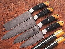 EST CUSTOM MADE DAMASCUS BLADE 4Pcs. CHEF/KITCHEN KNIVES SET DC 1011-4