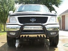 04-08 Ford F-150 BLACK PUSH FRONT BULL BUMPER BAR GUARD w/ Stainless Skid Plate