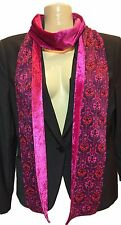 Liberty of London Handmade Scarf Purple Byrne Fabric with Pink Crushed Velvet