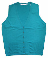 Edinburgh Woollen Mill Womens Mid Aqua Waistcoat [2030044AQ2M] Size M UK 14-16