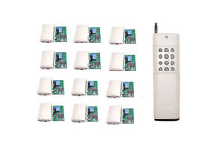 DC 12V RF remote controller switch 12CH transmitter 12 receivers 315MHz 1000M