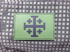 Jerusalem Cross Multicam Green Morale Patch Infidel Crusader