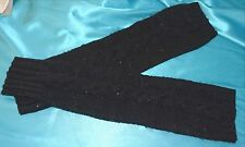 Victoria Secret Supermodel Essential Cashmere Blend Sequin Leg Warmers Black~NWT