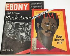 Vintage Lot EBONY & Time Magazine Exclusive Black America Special Issues 1970's