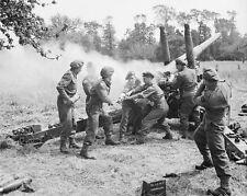 """Battle for Normandy, a British 4.5 inch gun 8"""" x 10"""" World War II Photo #166"""