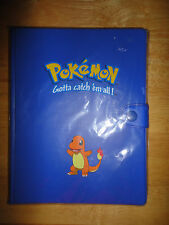 Vintage 1999 POKEMON Trading Card Game TOY SITE Blue CHARMANDER Binder *NEW*