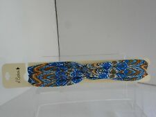 L.Erickson USA NWT Multi-Color  stretch headband with knot