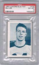 1952-53 Juniors Blue Tint Hockey Card Toronto #144 Bill Lee Graded PSA 6