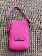 Donna Karan DKNY Pink 100% Leather Small Zip Coin Purse / Wallet